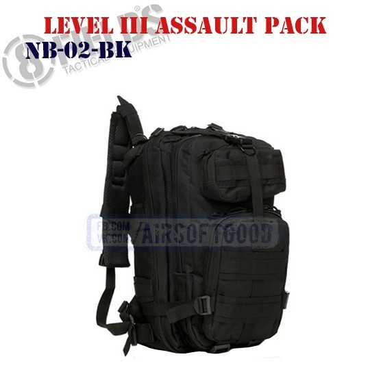 Level III Assault BackPack Black 8FIELDS (NB-02-BK)