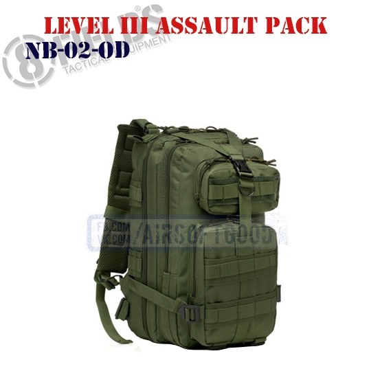 Level III Assault BackPack OD 8FIELDS (NB-02-OD)
