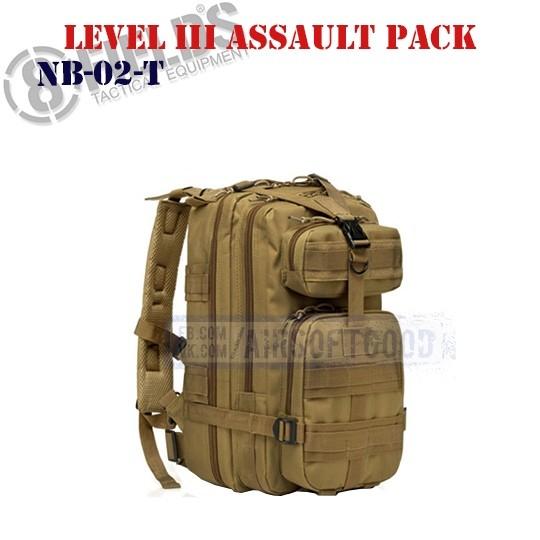 Level III Assault BackPack TAN 8FIELDS (NB-02-T)