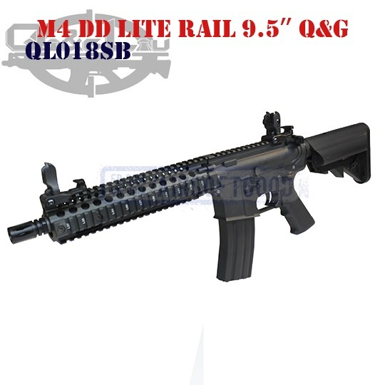 """M4 DD Lite Rail 9.5"""" Q&G (QL018SB)"""