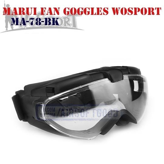MARUI Fan Ventilated Goggles WoSporT (MA-78-BK)