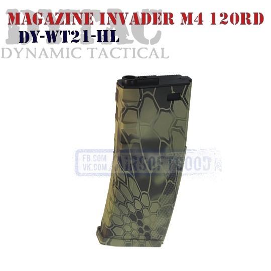 Magazine Invader Mag M4 120rd Kryptek DYNAMIC TACTICAL (DY-WT21-HL)