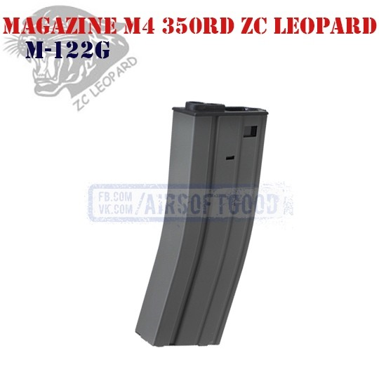 Magazine M4 350rd Grey ZC Leopard (M-122G)
