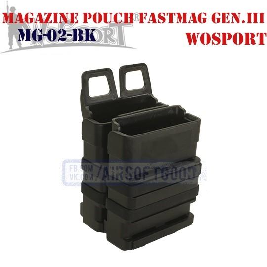 Magazine Pouch FastMag Gen.III Black WoSporT (MG-02-BK)