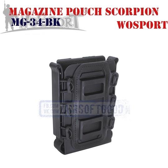 Magazine Pouch Rifle Soft Shell Scorpion Black WoSporT (MG-34-BK)