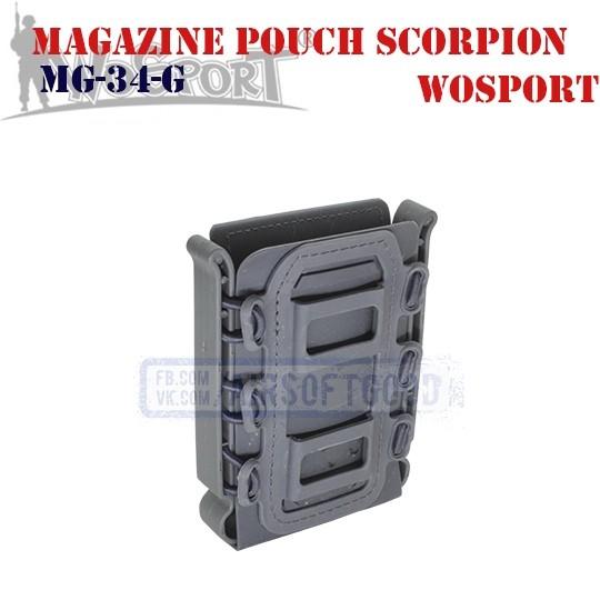 Magazine Pouch Rifle Soft Shell Scorpion Crey WoSporT (MG-34-G)
