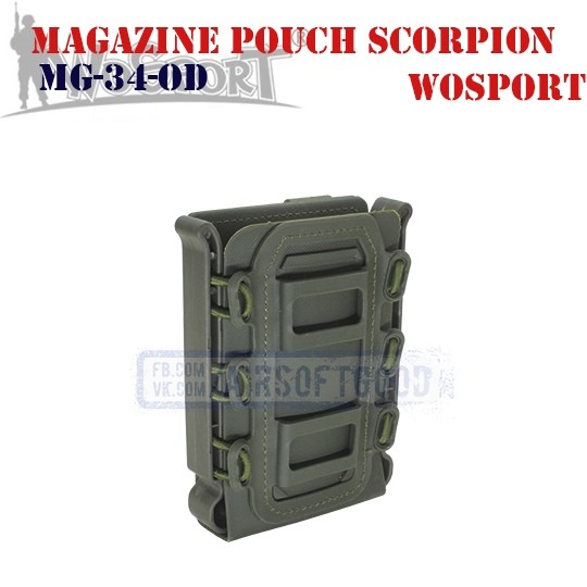Magazine Pouch Rifle Soft Shell Scorpion OD WoSporT (MG-34-OD)