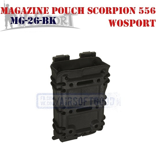 Magazine Pouch Scorpion 556 Black WoSporT (MG-26-BK)