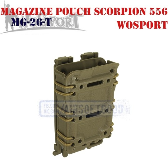 Magazine Pouch Scorpion 556 TAN WoSporT (MG-26-T)