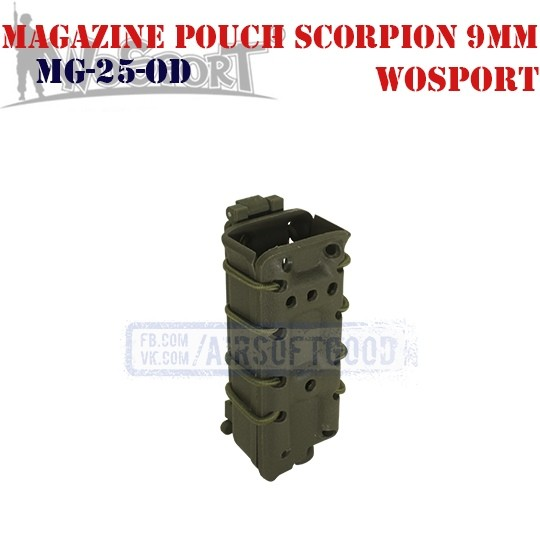 Magazine Pouch Scorpion 9mm OD WoSporT (MG-25-OD)