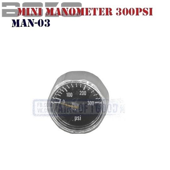 Mini Manometer HPA 300PSi BOZO (MAN-03)