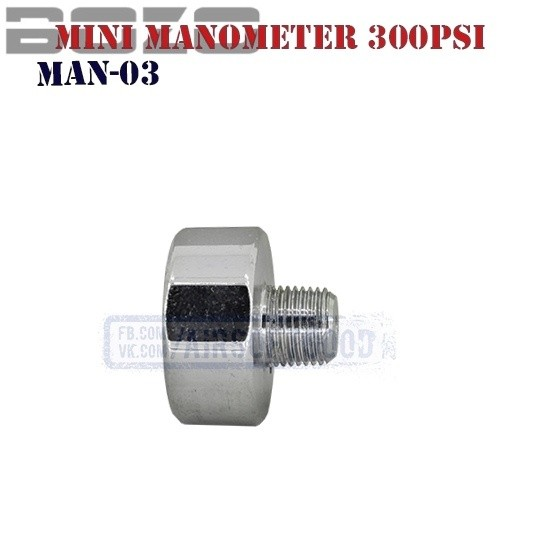 Mini Manometer HPA 300PSi BOZO (MAN-03)