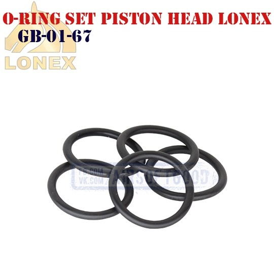 O-ring Set Piston Head LONEX (GB-01-67)