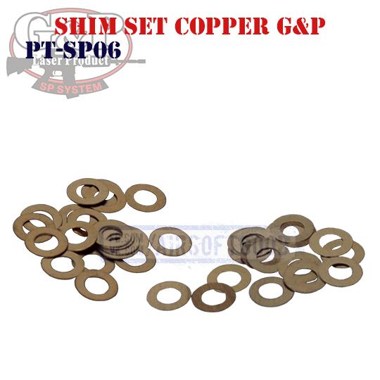 Shim Set Copper 0.1 & 0.2mm G&P (PT-SP06)