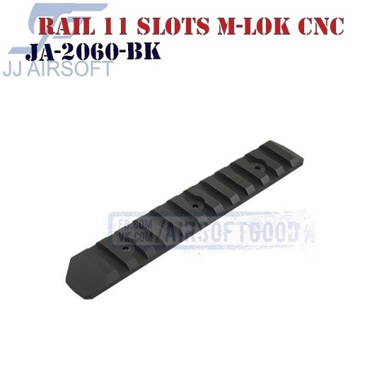 Rail 11 Slots M-LOK Aluminum CNC JJ Airsoft (JA-2060-BK)
