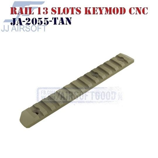 Rail 13 Slots KeyMod Aluminum CNC TAN JJ Airsoft (JA-2055-TAN)