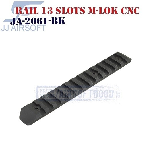 Rail 13 Slots M-LOK Aluminum CNC JJ Airsoft (JA-2061-BK)