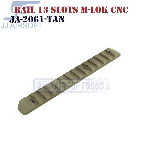 Rail 13 Slots M-LOK Aluminum CNC TAN JJ Airsoft (JA-2061-TAN)