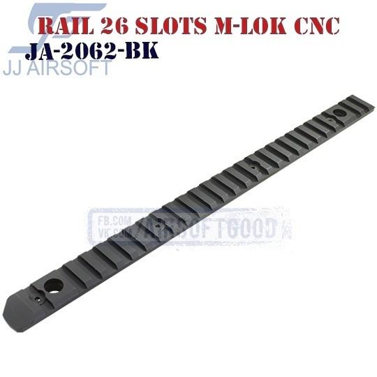 Rail 26 Slots QD Swivels M-LOK Aluminum CNC JJ Airsoft (JA-2062-BK)