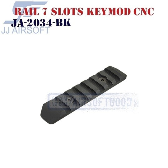 Rail 7 Slots KeyMod Aluminum CNC JJ Airsoft (JA-2034-BK)