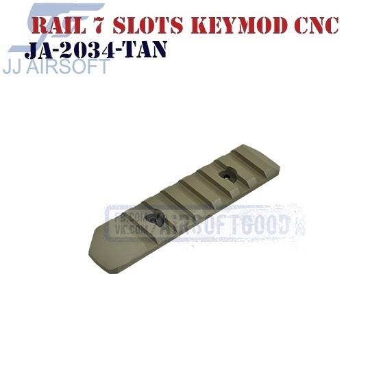 Rail 7 Slots KeyMod Aluminum CNC TAN JJ Airsoft (JA-2034-TAN)