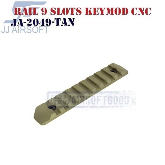 Rail 9 Slots KeyMod Aluminum CNC TAN JJ Airsoft (JA-2049-TAN)