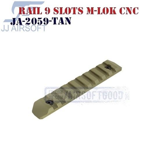 Rail 9 Slots M-LOK Aluminum CNC TAN JJ Airsoft (JA-2059-TAN)