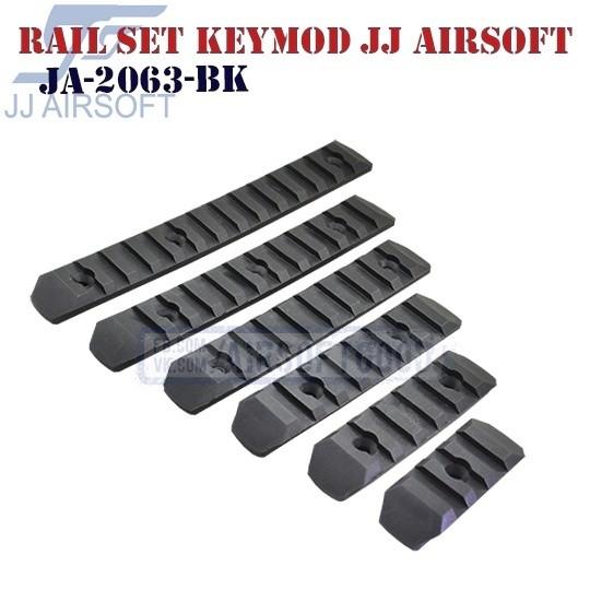 Rail Set KeyMod Polymer JJ Airsoft (JA-2063-BK)