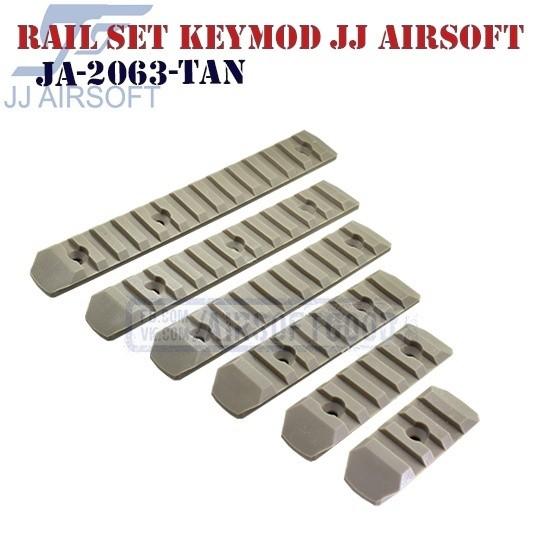 Rail Set KeyMod Polymer TAN JJ Airsoft (JA-2063-TAN)