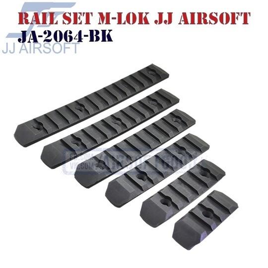 Rail Set M-LOK Polymer JJ Airsoft (JA-2064-BK)
