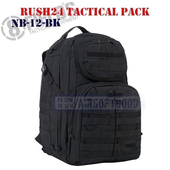 Rush24 Tactical BackPack Black 8FIELDS (NB-12-BK)
