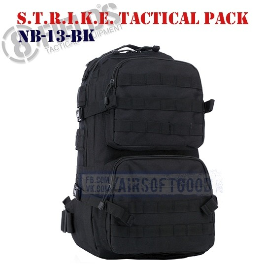 S.T.R.I.K.E. Tactical BackPack Black 8FIELDS (NB-13-BK)