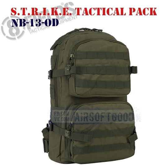 S.T.R.I.K.E. Tactical BackPack OD 8FIELDS (NB-13-OD)