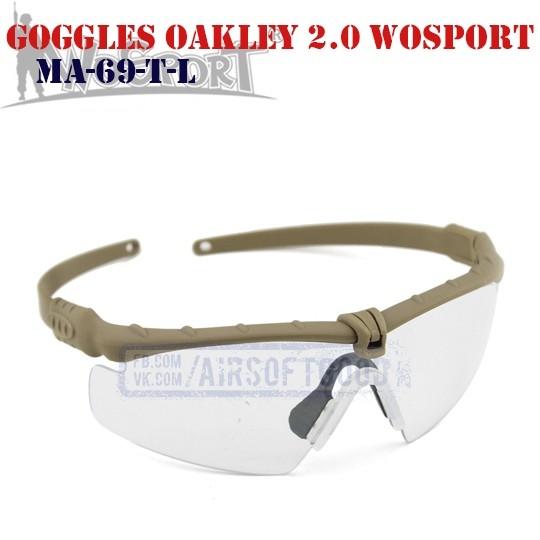 Shooting Goggles Oakley M 2.0 TAN WoSporT (MA-69-T-L)