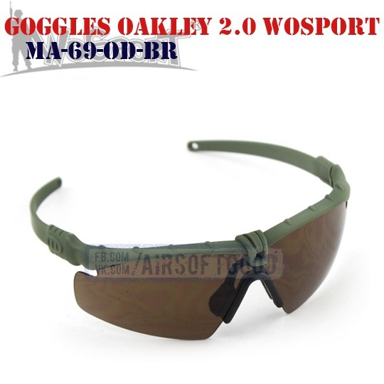 Shooting Goggles Oakley M 2.0 Olive WoSporT (MA-69-OD-BR)