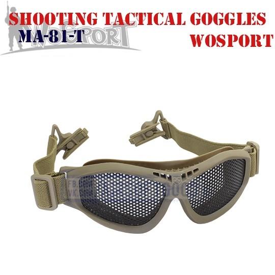 Shooting Tactical Goggles Adaptation Helmet TAN WoSporT (MA-81-T)