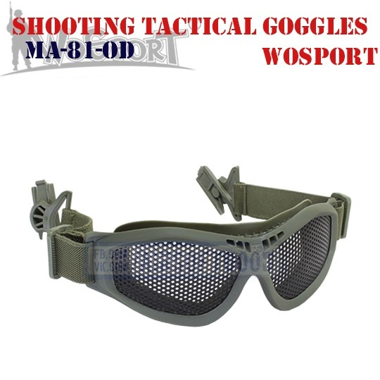 Shooting Tactical Goggles Adaptation Helmet Olive WoSporT (MA-81-OD)