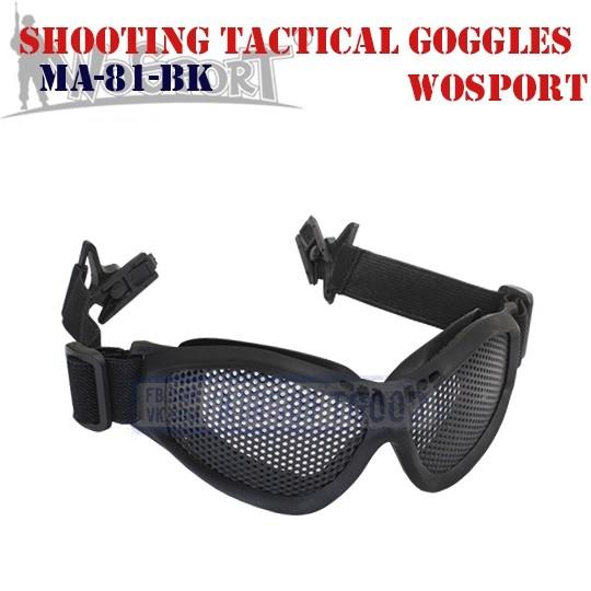 Shooting Tactical Goggles Adaptation Helmet WoSporT (MA-81-BK)