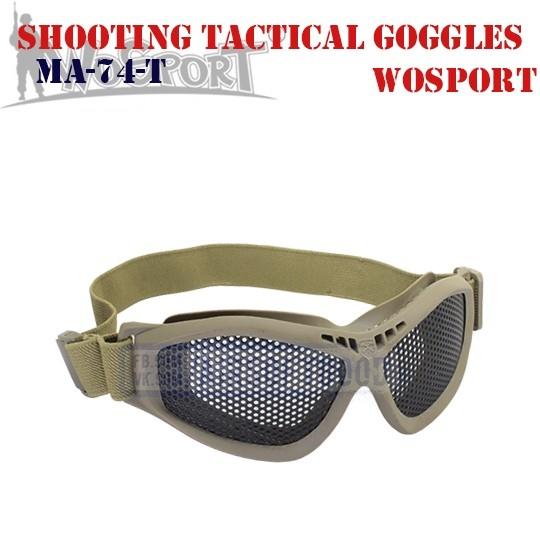Shooting Tactical Goggles DE WoSporT (MA-74-T)