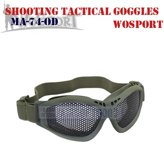 Shooting Tactical Goggles Olive WoSporT (MA-74-OD)