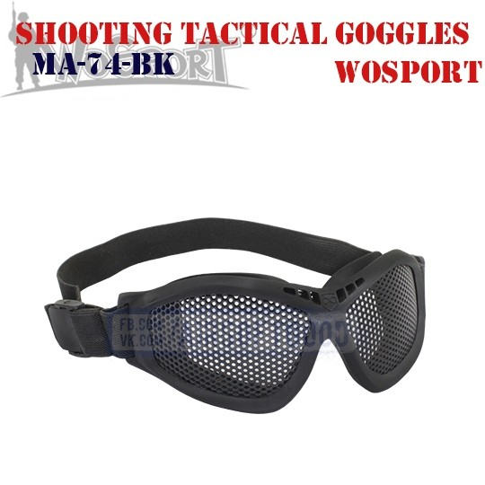 Shooting Tactical Goggles WoSporT (MA-74-BK)