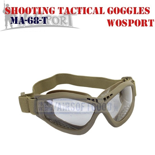 Shooting Tactical Protective Goggles TAN WoSporT (MA-68-T)