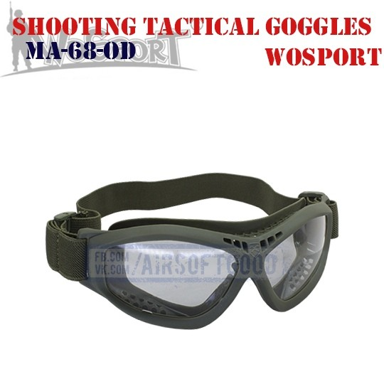 Shooting Tactical Protective Goggles Olive WoSporT (MA-68-OD)