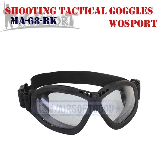 Shooting Tactical Protective Goggles WoSporT (MA-68-BK)