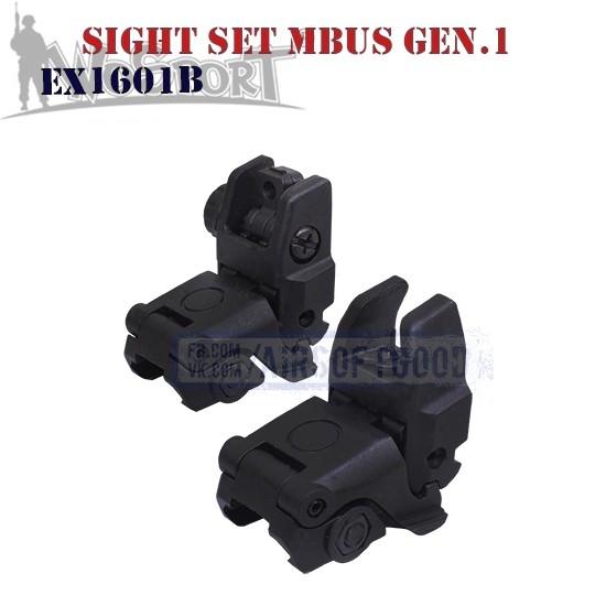 Sight Set MAGPUL MBUS Gen.1 Black WoSporT (EX1601B)