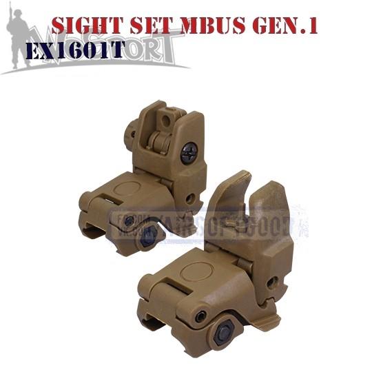 Sight Set MAGPUL MBUS Gen.1 TAN WoSporT (EX1601T)