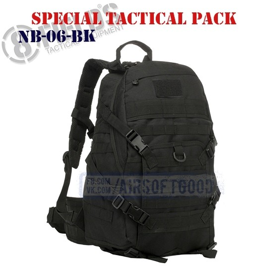 Special BackPack Tactical Black 8FIELDS (NB-06-BK)