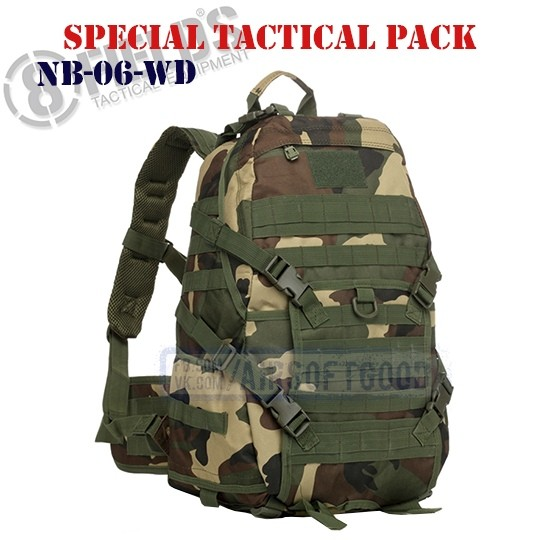 Special BackPack Tactical Woodland 8FIELDS (NB-06-WD)