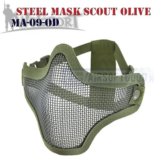 Steel Mesh Mask Scout Olive WoSporT (MA-09-OD)