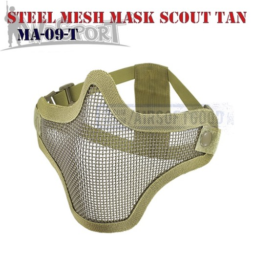 Steel Mesh Mask Scout TAN WoSporT (MA-09-T)